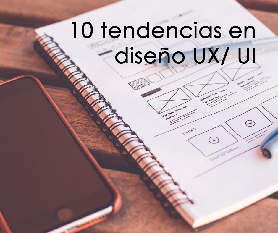 Cuaderno con bocetos de diseño UX